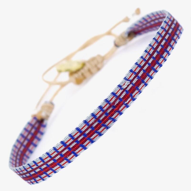 bracelet purple & blue