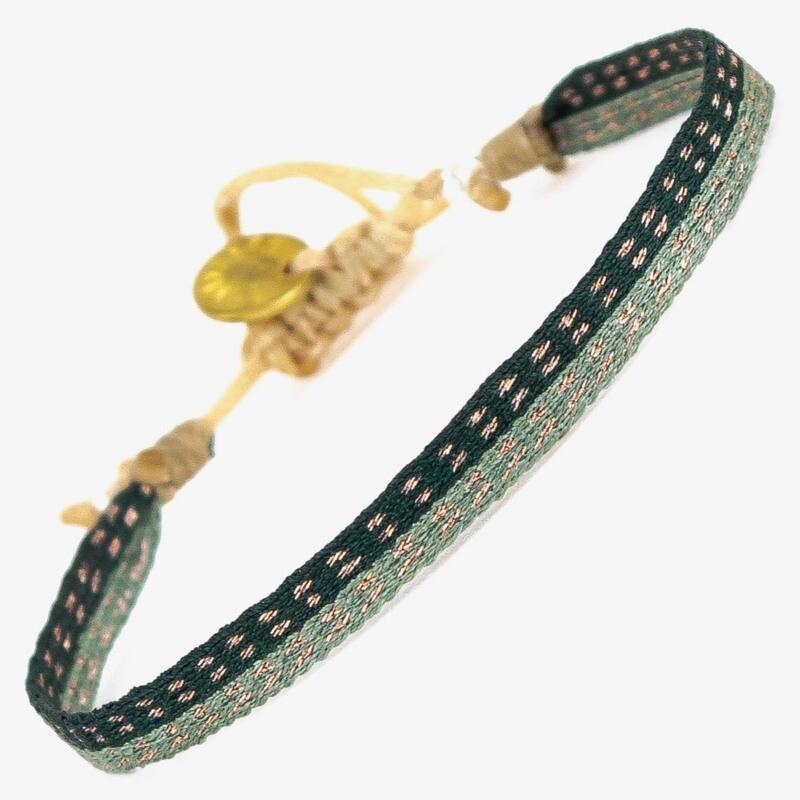bracelet dark green & mint