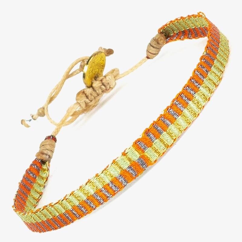 bracelet yellow & orange