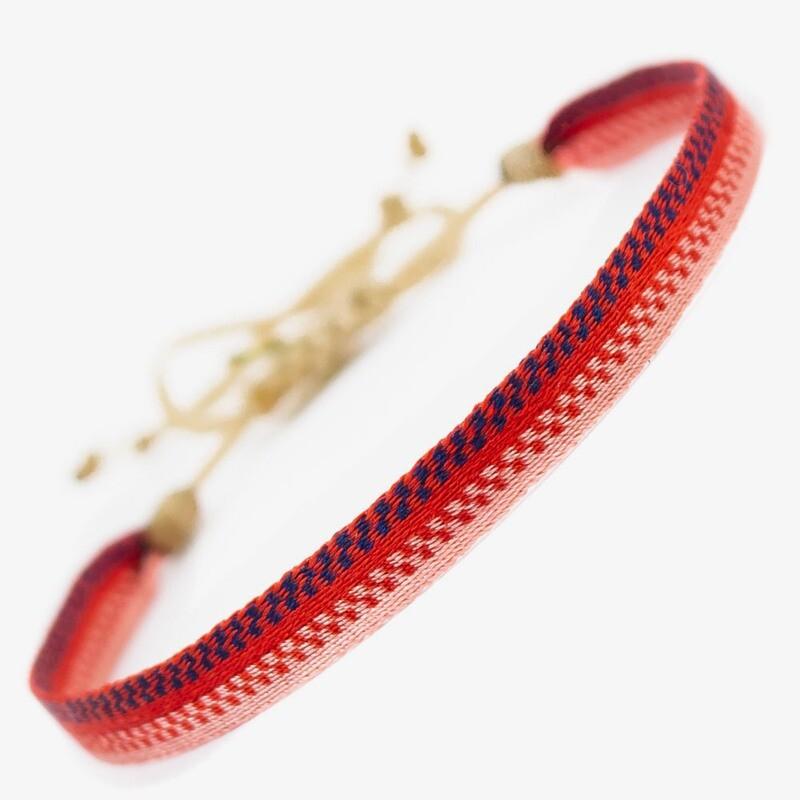 bracelet red & rose