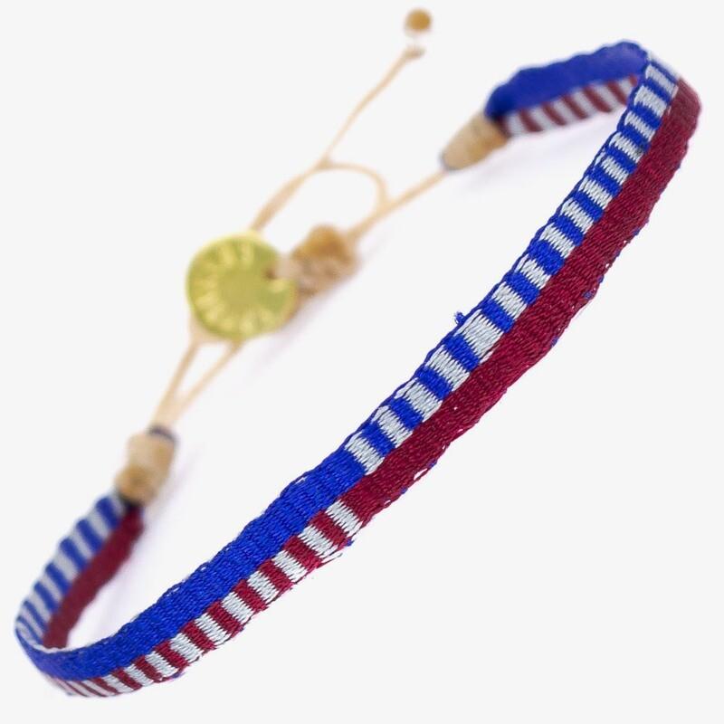 bracelet blue & red