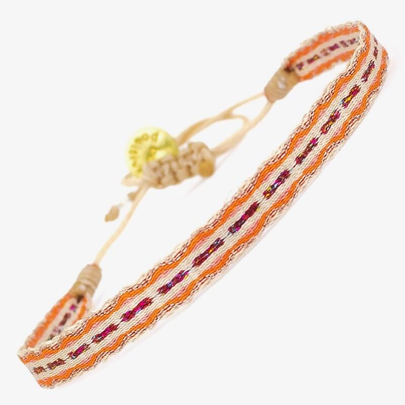 bracelet orange, red & white