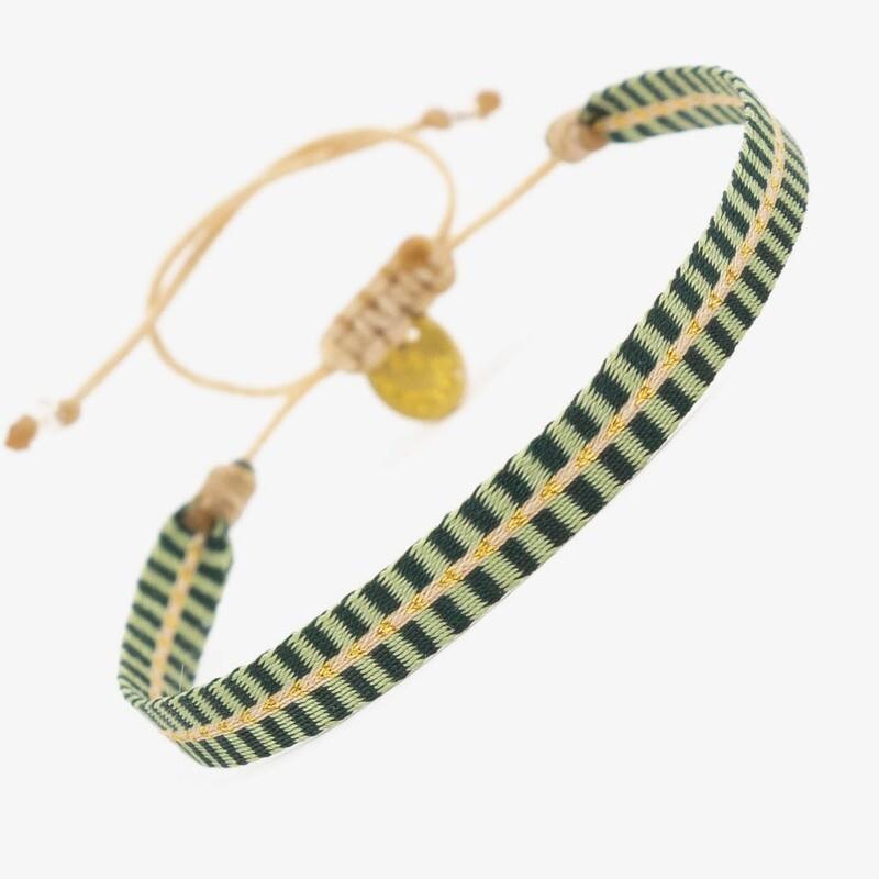 bracelet green & yellow