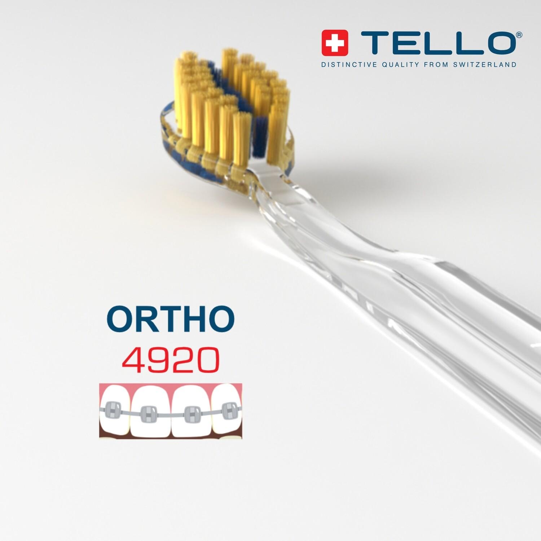 TELLO Zahnbürste Ultra Soft für Zahnspangen