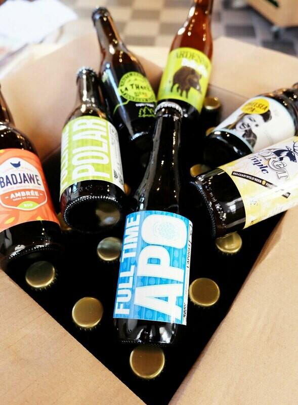 Casier de 24 bières artisanales 33cl