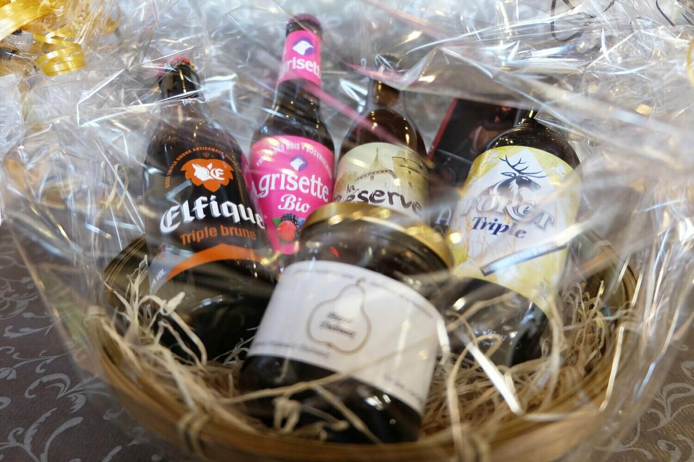 Panier de bières et produits de bouche à 15€