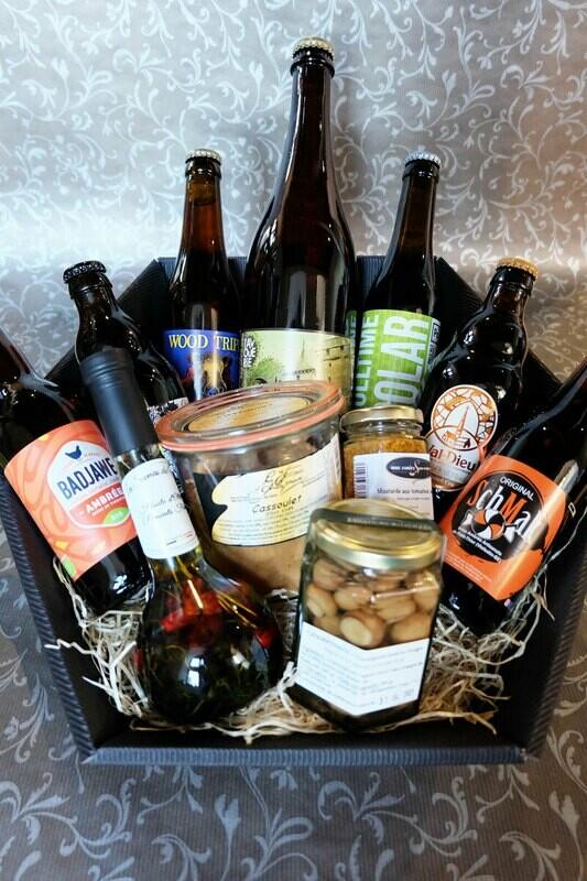 Panier de bières et produits de bouche à 50€