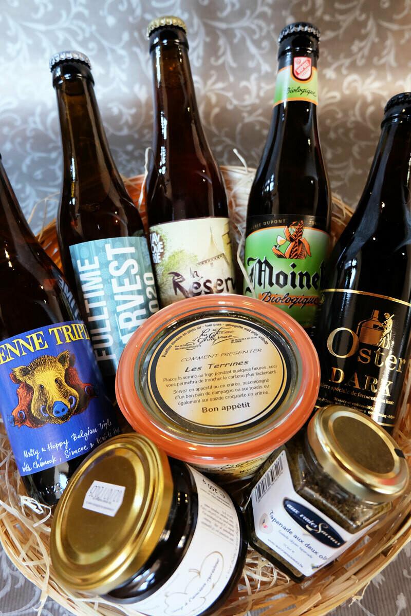 Panier de bières et produits de bouche à 25€