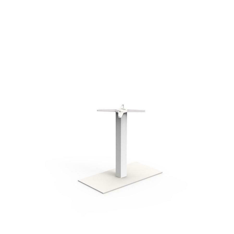 Pied de table base rectangle H=72cm