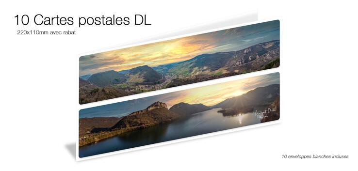 10 cartes postales DL avec rabat