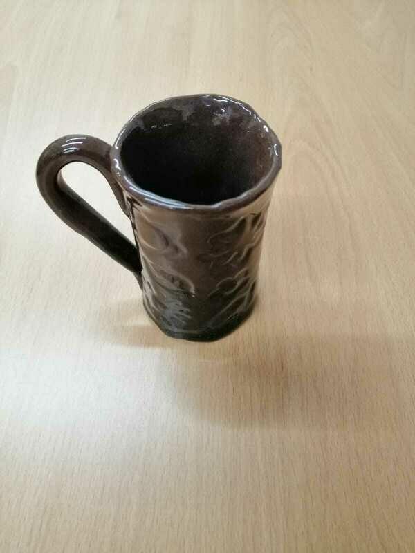 Brown Glaze Tall Mug