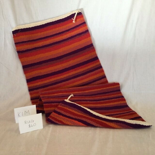 Red Striped Rug made by Kim
