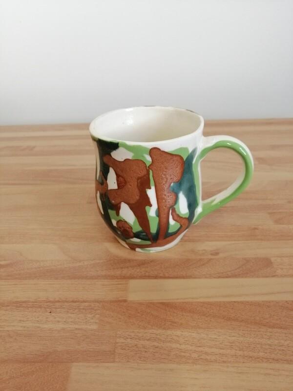 Green & Brown Mug by Frances