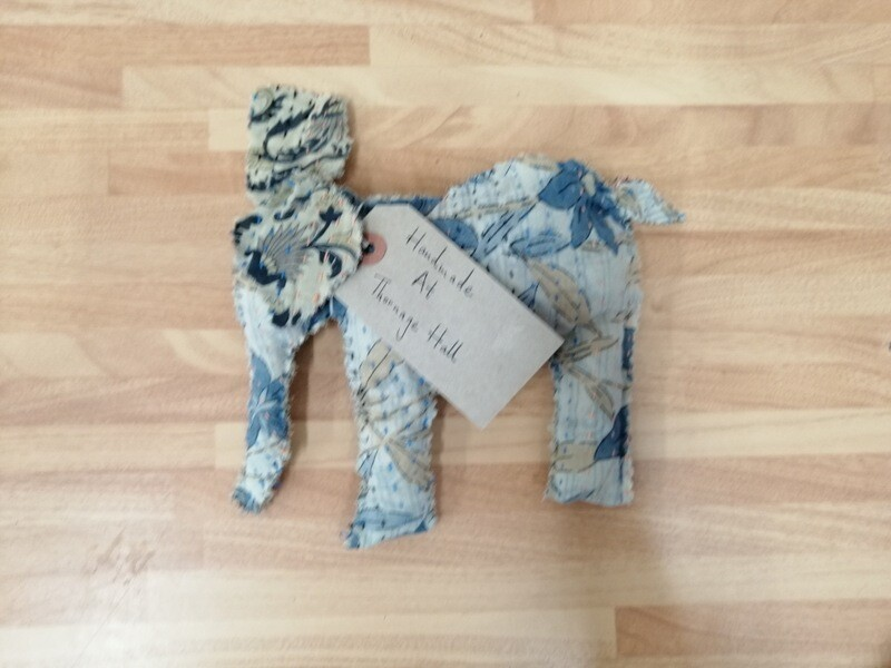 Patterned Hand Stitched Elephant Toy
