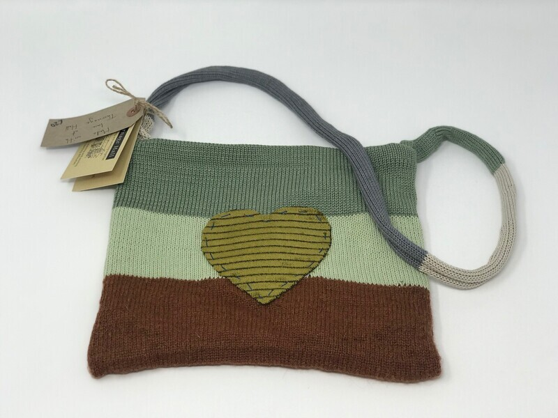Knitted Striped Block Bag