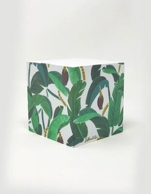 Banana Leaf Sticky Note Cube