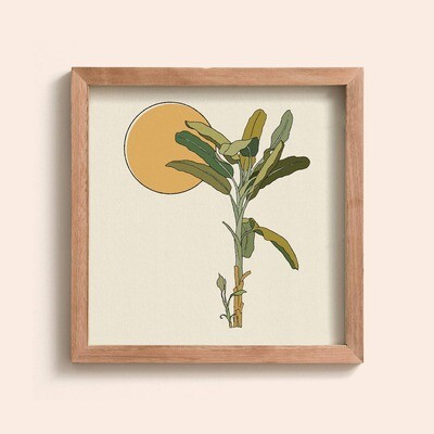 Gold Framed Banana Tree Print