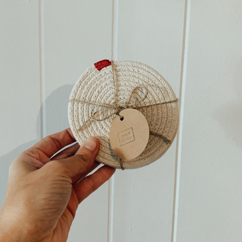 Twig + Harbor Woven Coaster - (4)