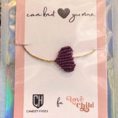 Black Camden Hydes Knot Bracelet