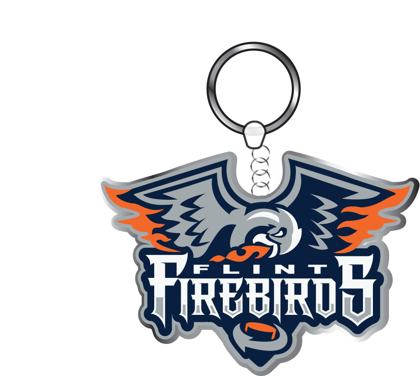 Metal Firebirds Keychain