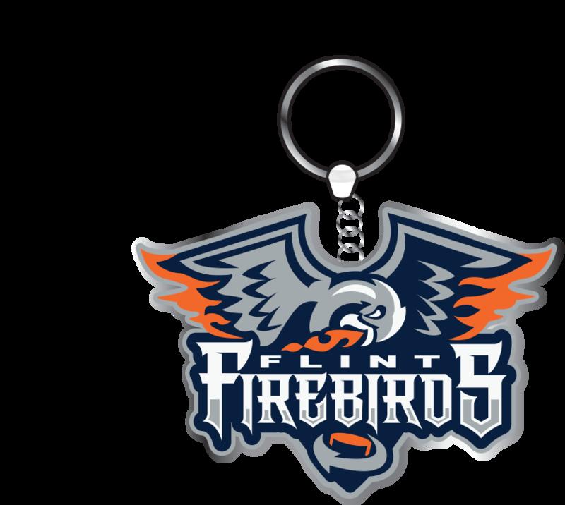 Metal Firebirds Keychain