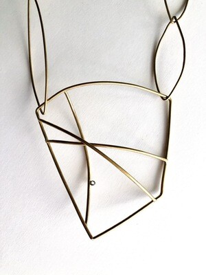 Brass Architectural necklace
