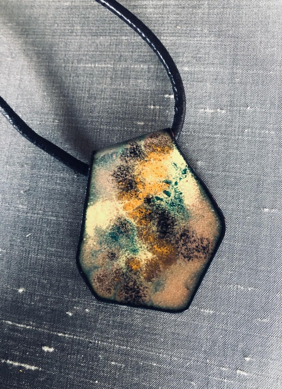 Copper Enamel pendant