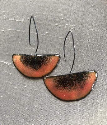 Enamel Pink Earrings