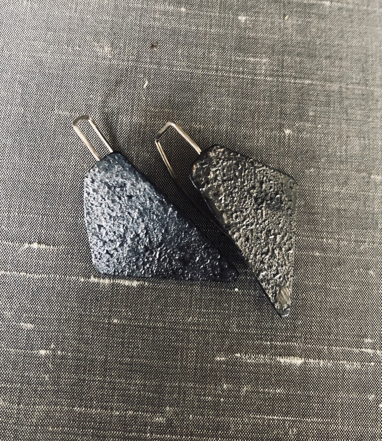 Reticulated Copper Earrings SOLD