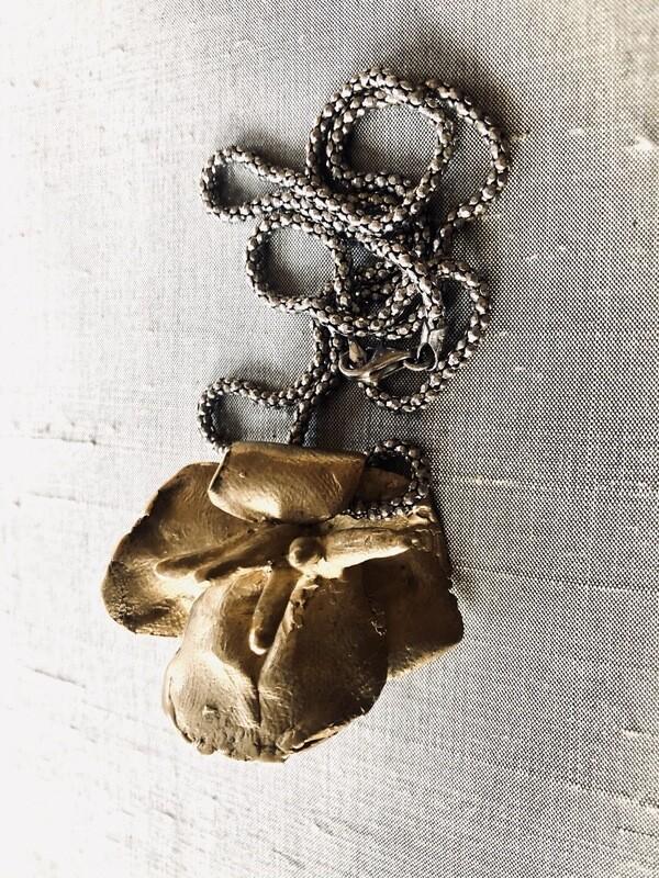 Brass Fleur Pendant
