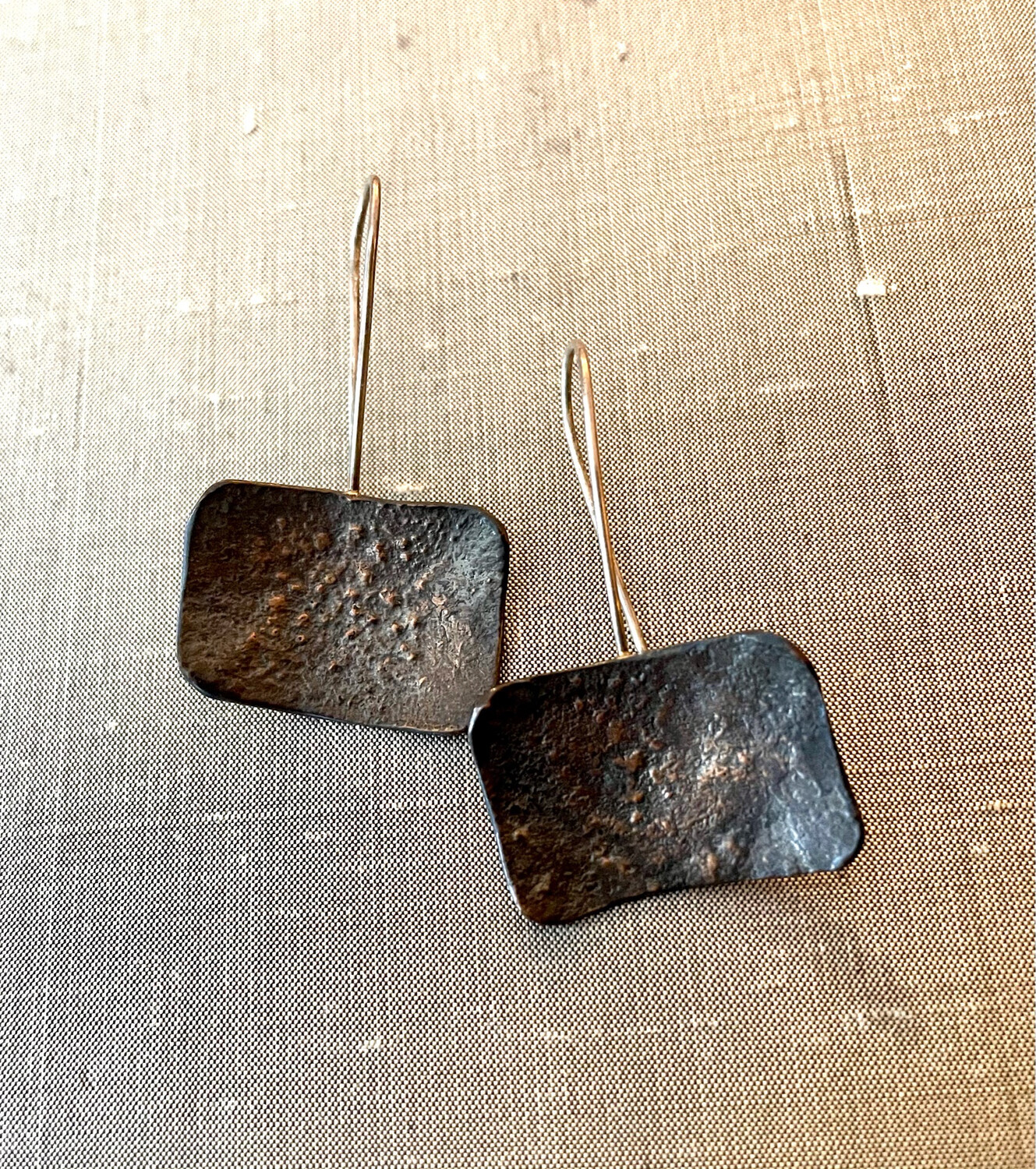 Reticulated Rectangular Earrings SOLD