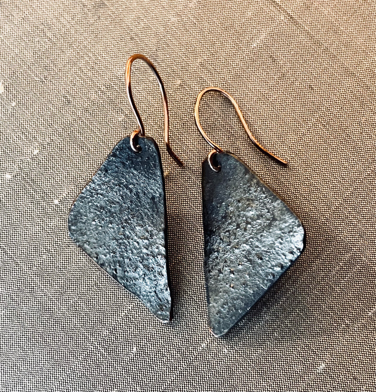 Reticulated Geometric Earrings