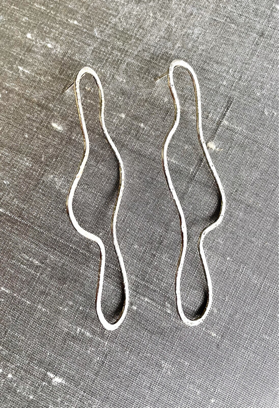 Sterling Silver Free Form Drop Posts