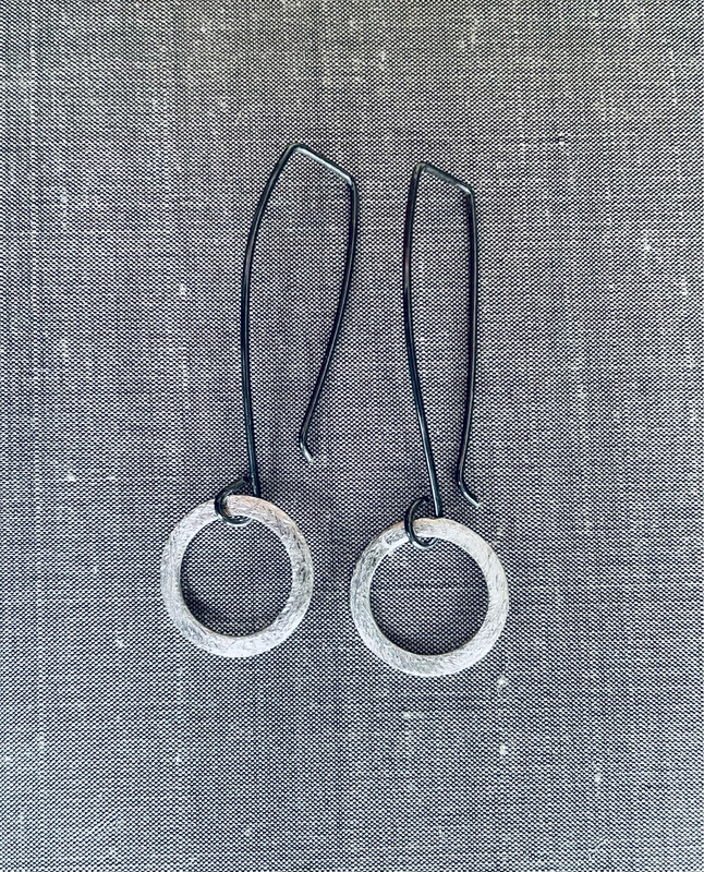 Texturized Circle Earrings