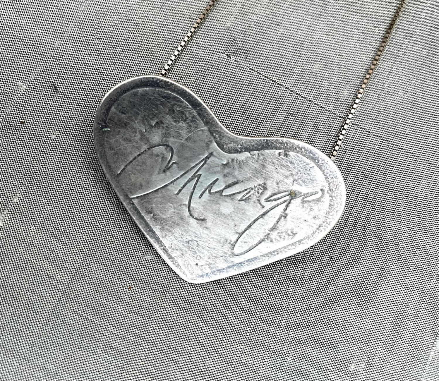 Sterling silver Chicago Heart Pendant