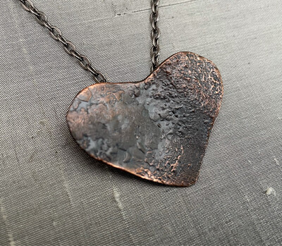 Reticulated copper Heart