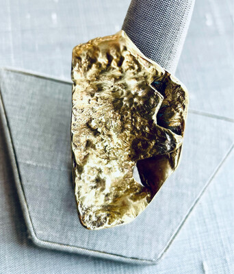 Reticulated Brass & Sterling Silver Ring