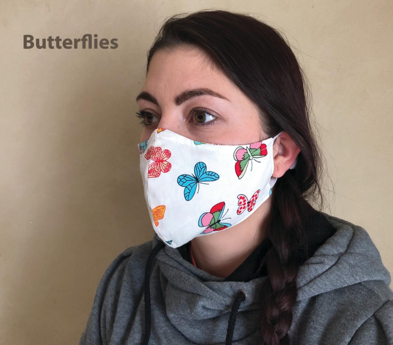 2Pack Masks Adult 3 Layer Filter Pocket