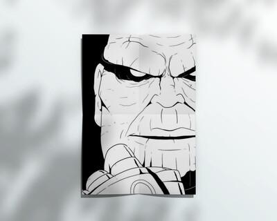Poster Thanos (fanart) A4