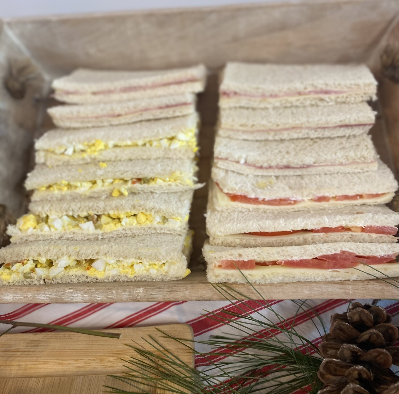 Sandwiches de Miga - sold by the 1/2 dozen