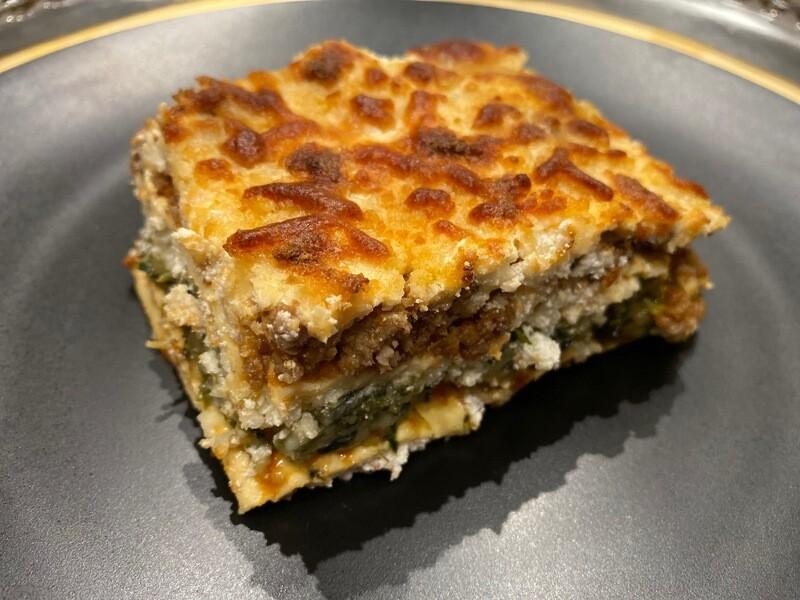 Lasagna serves 8