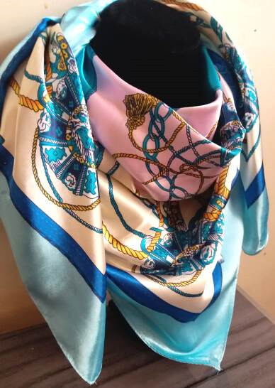 Multi coloured Silk scarf