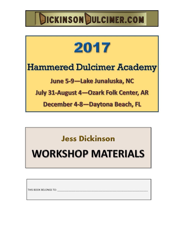 HAMMERED DULCIMER ACADEMY - Five-Day Workshop Materials