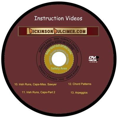 DVD #3 Hammered Dulcimer Instruction Videos 10-13