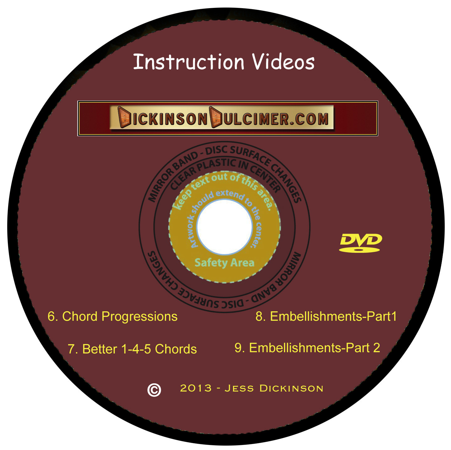 DVD #2 Hammered Dulcimer Instruction Videos 6-9