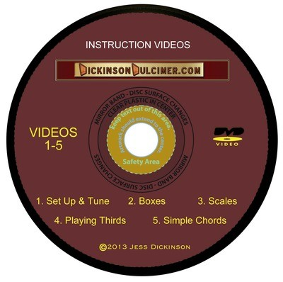 DVD #1 Hammered Dulcimer Instruction Videos 1-5