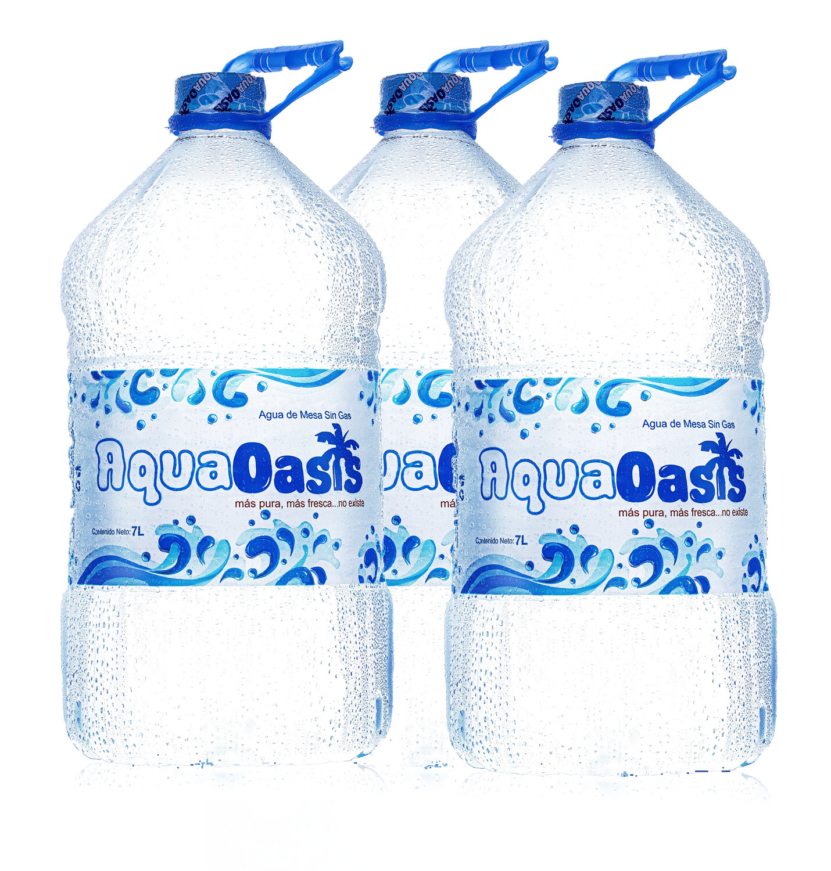 Agua AquaOasis en 3 Botellas de 7 Litros