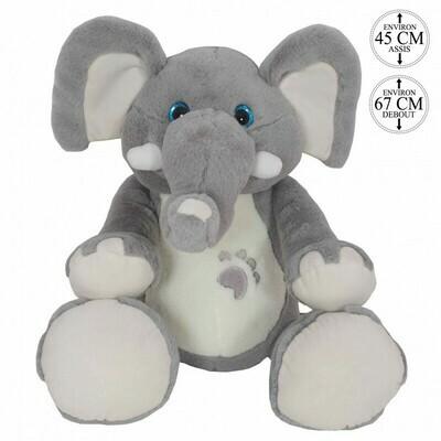 L'éléphant de 67 cm.