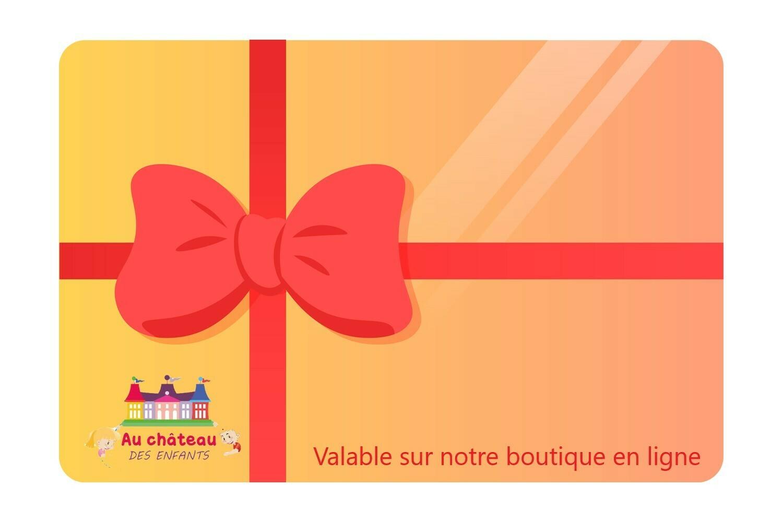 Carte cadeau AU CHATEAU DES ENFANTS