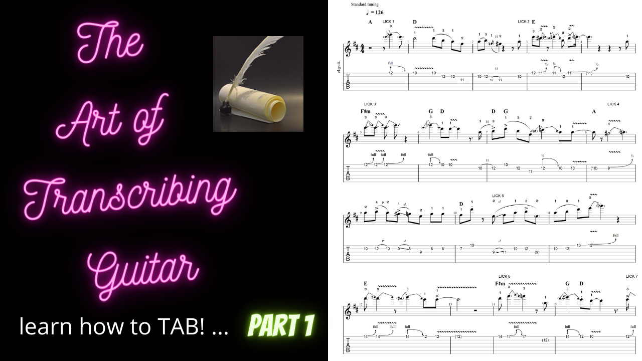 """How to """"TAB"""" - Intro to Transcribing (using Guitar Pro 7.5)"""
